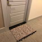 3 X2 Brown White And Black Handmade Doormat Kitchen