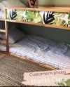 Ikea Kura Bed Removable Stickers Tropical Leaves Ikea Etsy