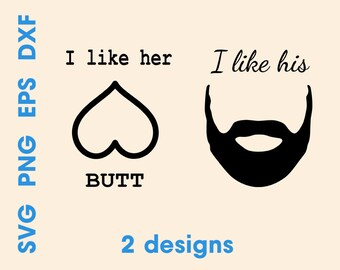 Download I like his beard svg | Etsy