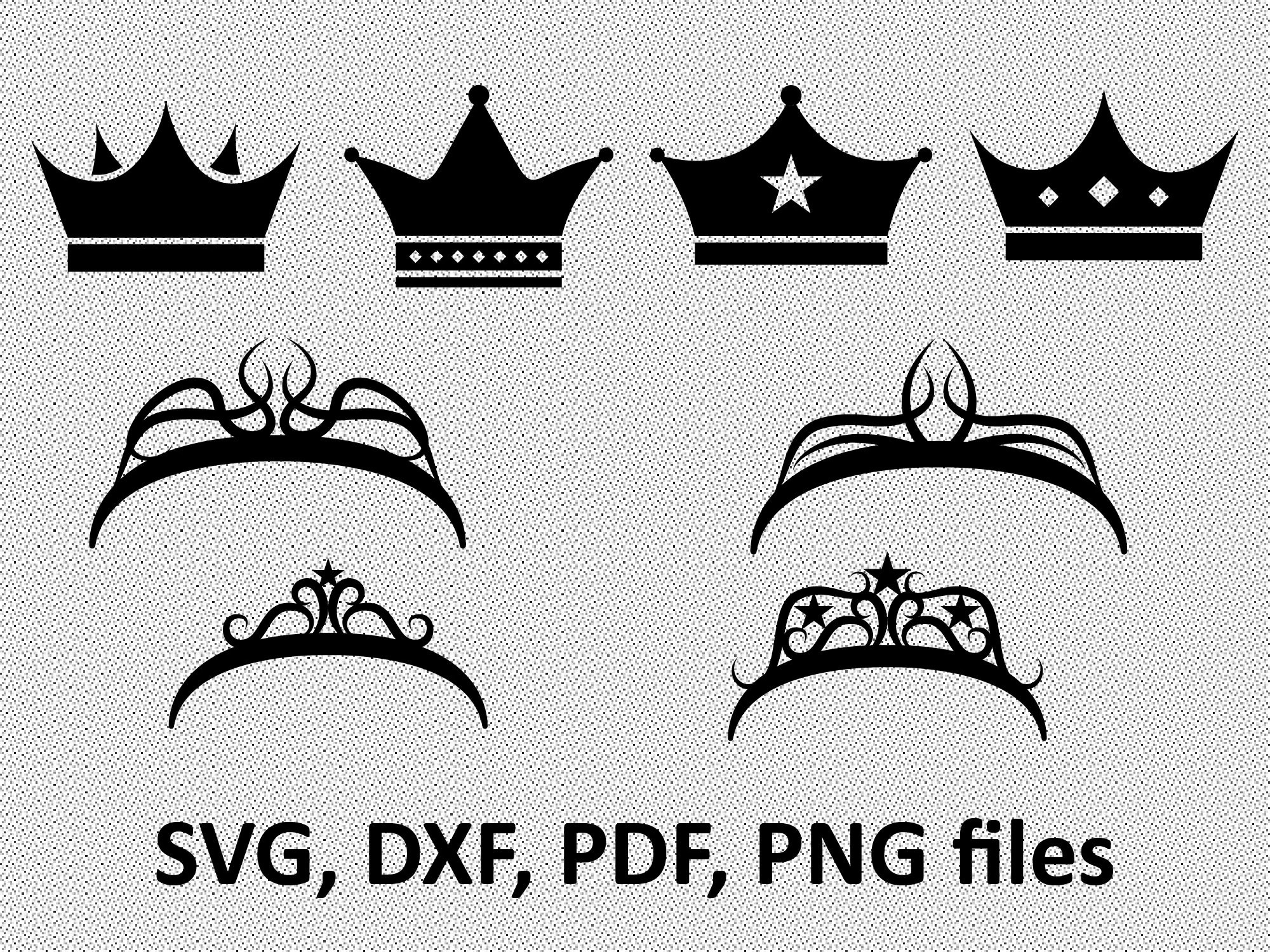 Crowns Svg Crown Clipart Crown Vector Princess Crown Svg
