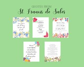 Quotes from St. Francis de Sales/ Photo Quotes/ Printables