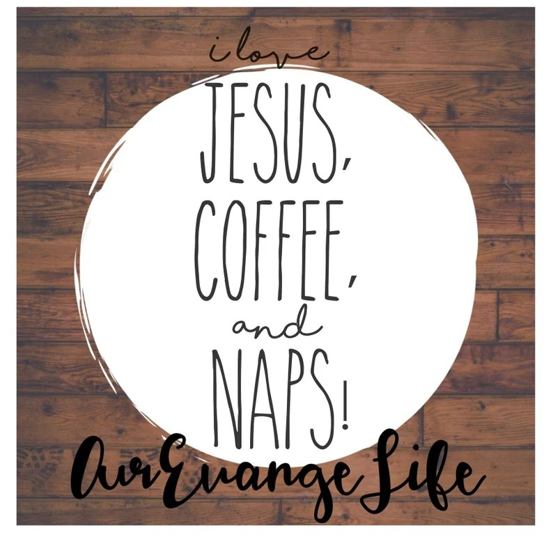 Download I love JESUS COFFEE and NAPS svg file   Etsy
