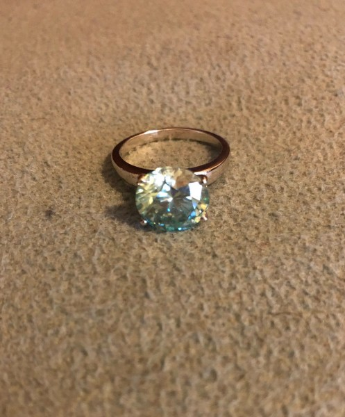 Diamond Platinaire Engagement Ring Size 7 1 4 Approx 15   Etsy Diamond sterling silver ring