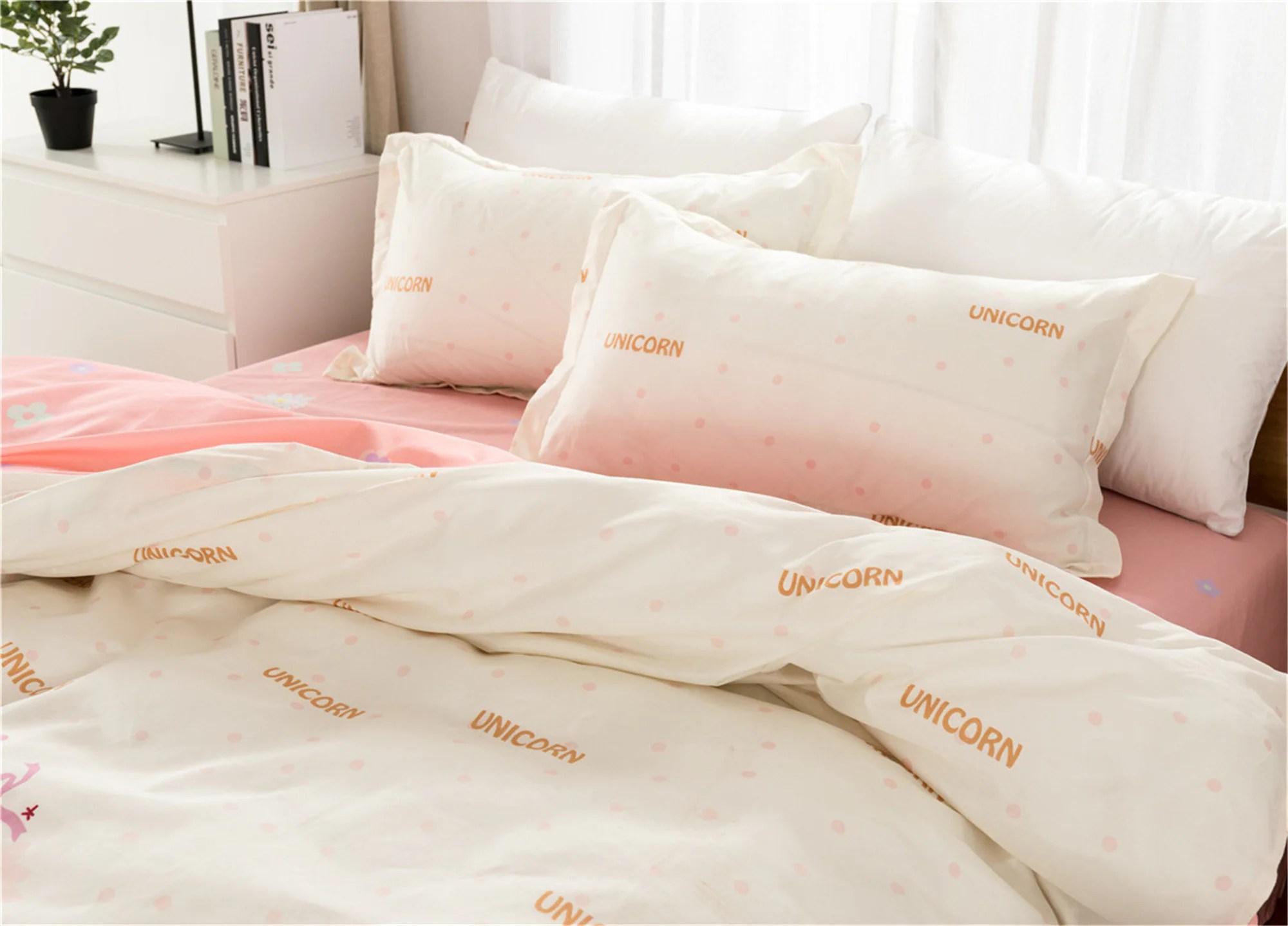 duvet cover set unicorn bedding set