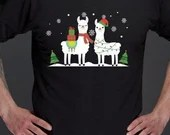 Alpaca Christmas Sweatshirts Black