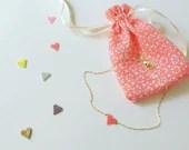 Miyuki pearl heart necklace
