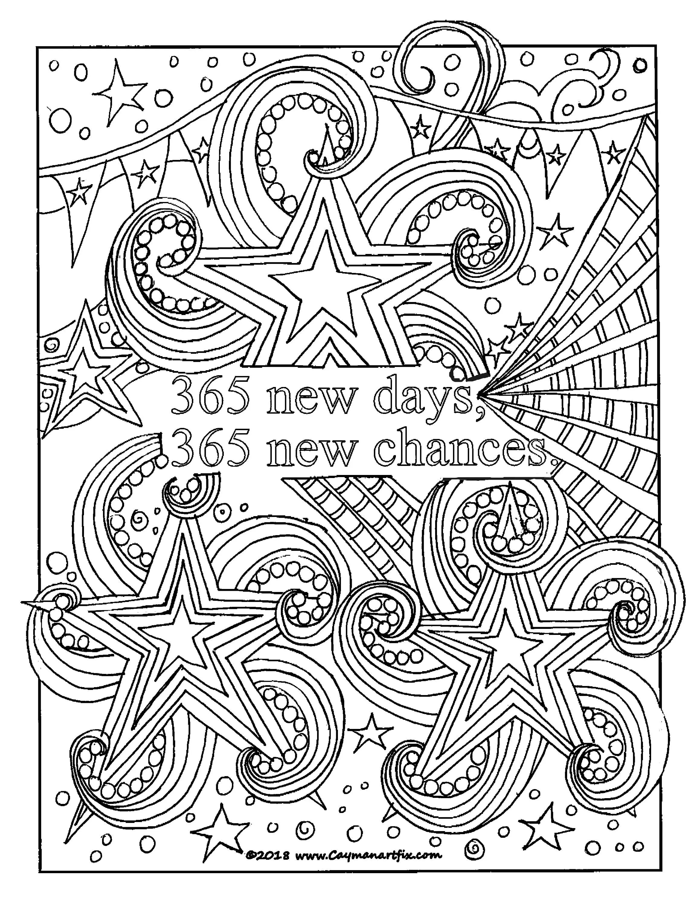 Inspirational Quote Coloring Page Motivational Adult