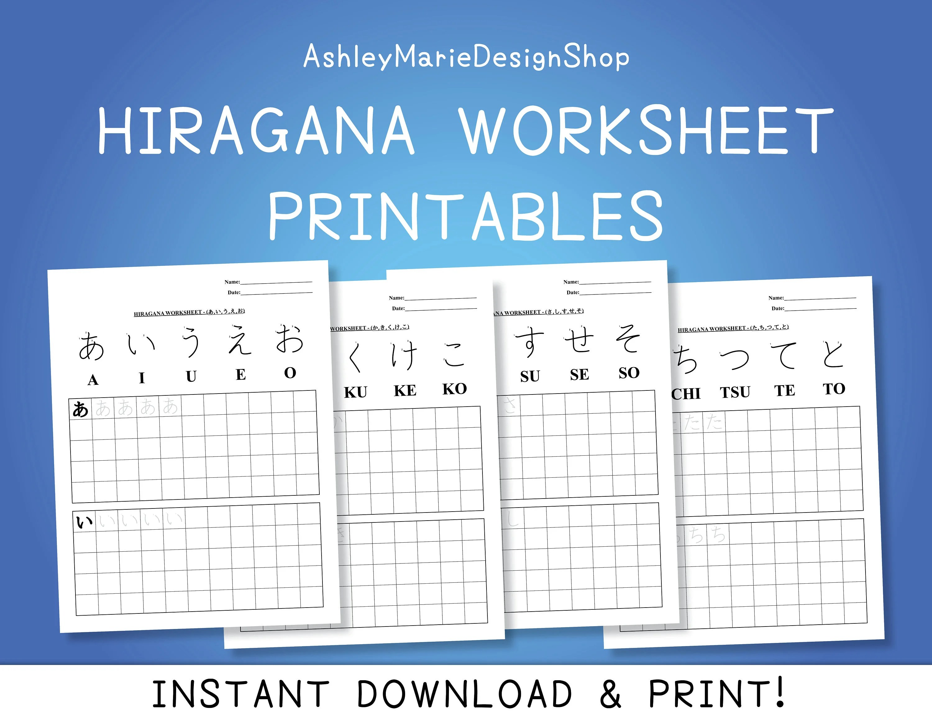 Amazing Worksheets To Practice Writing Hiragana Sheets