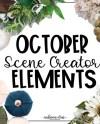 October Scene Creator Elements Kit 3 Etsy