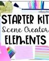 Scene Creator Starter Kit Movable Mockup Elements Flat Lay Etsy