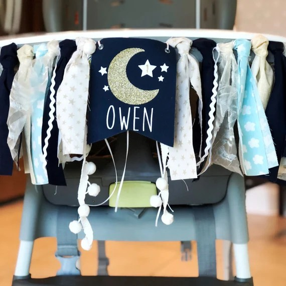 Twinkle Twinkle Little Star High Chair Decor by JenMakesPrettyThings