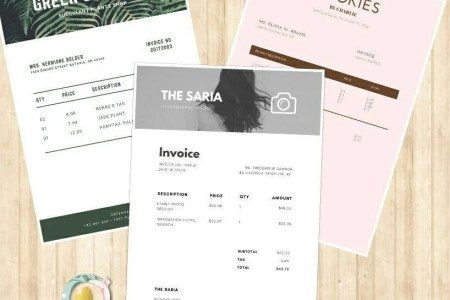 Business invoice   Etsy Printable Invoice Template Word pdf Download Business Receipt Billing  Statement small business invoice