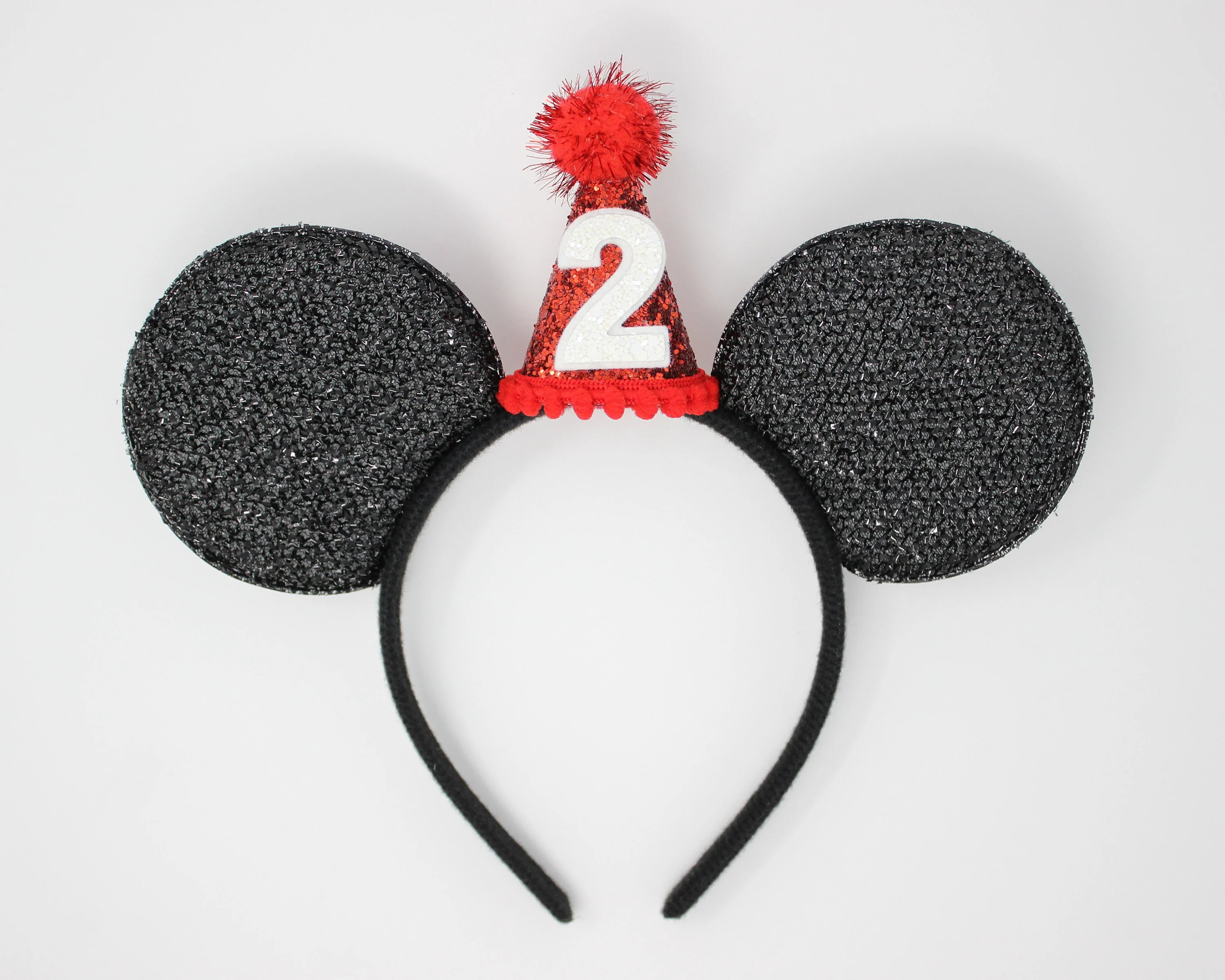 2nd Birthday Mouse Ears Mouse Birthday Ears With Mini Hat Etsy