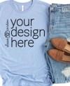 Bella Canvas 3001 Shirt Mockup Heather Blue T Shirt Mock Up Etsy
