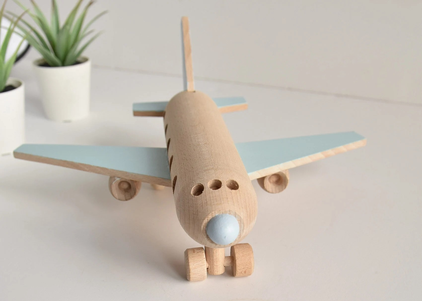 Wooden airplane  Wooden toys  Eco toy  Airplane decor  image 1