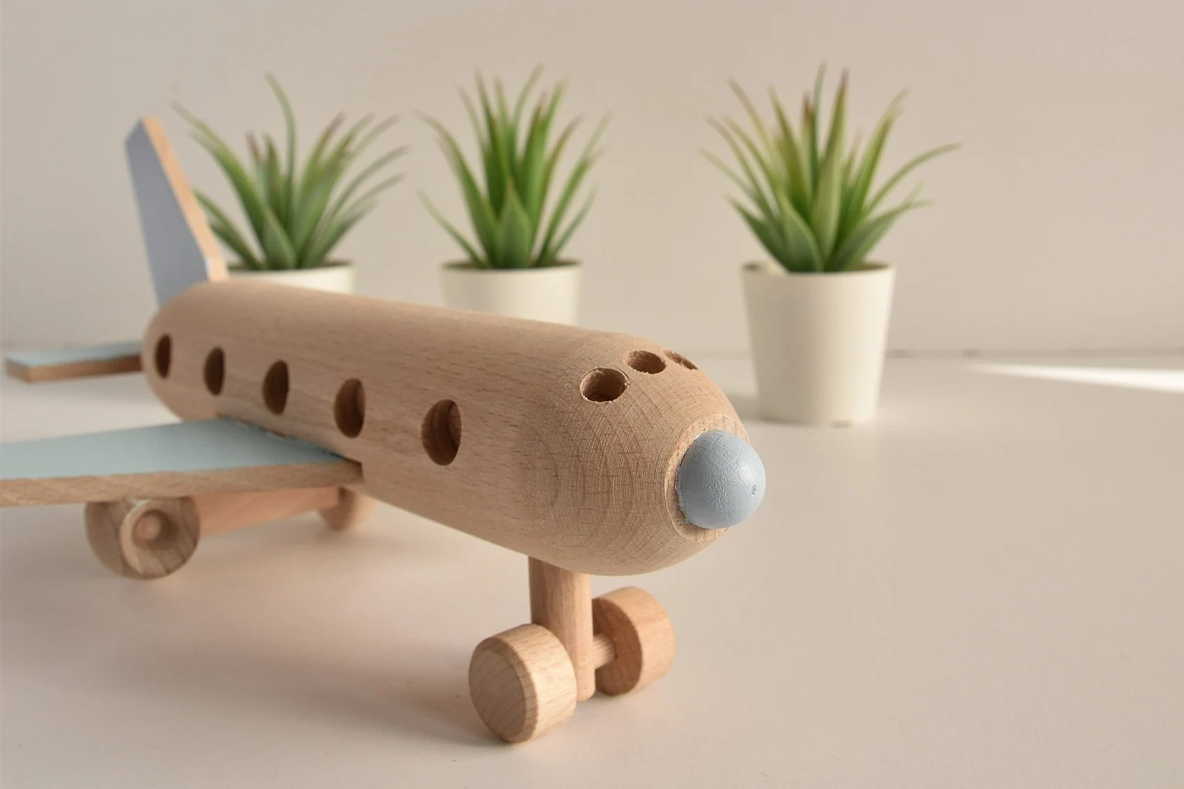 Wooden airplane  Wooden toys  Eco toy  Airplane decor  image 2