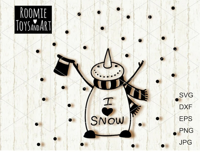 Download I Love Being A Nanny Snowman Svg - Layered SVG Cut File