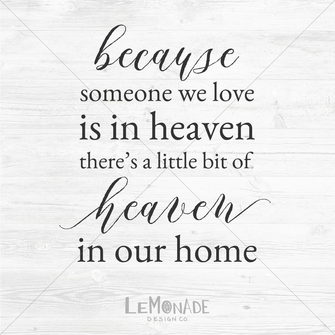 Download Because Someone We Love Is In Heaven Cut File SVG DXF png ...