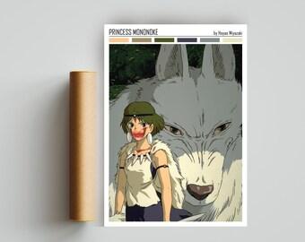 princess mononoke poster etsy