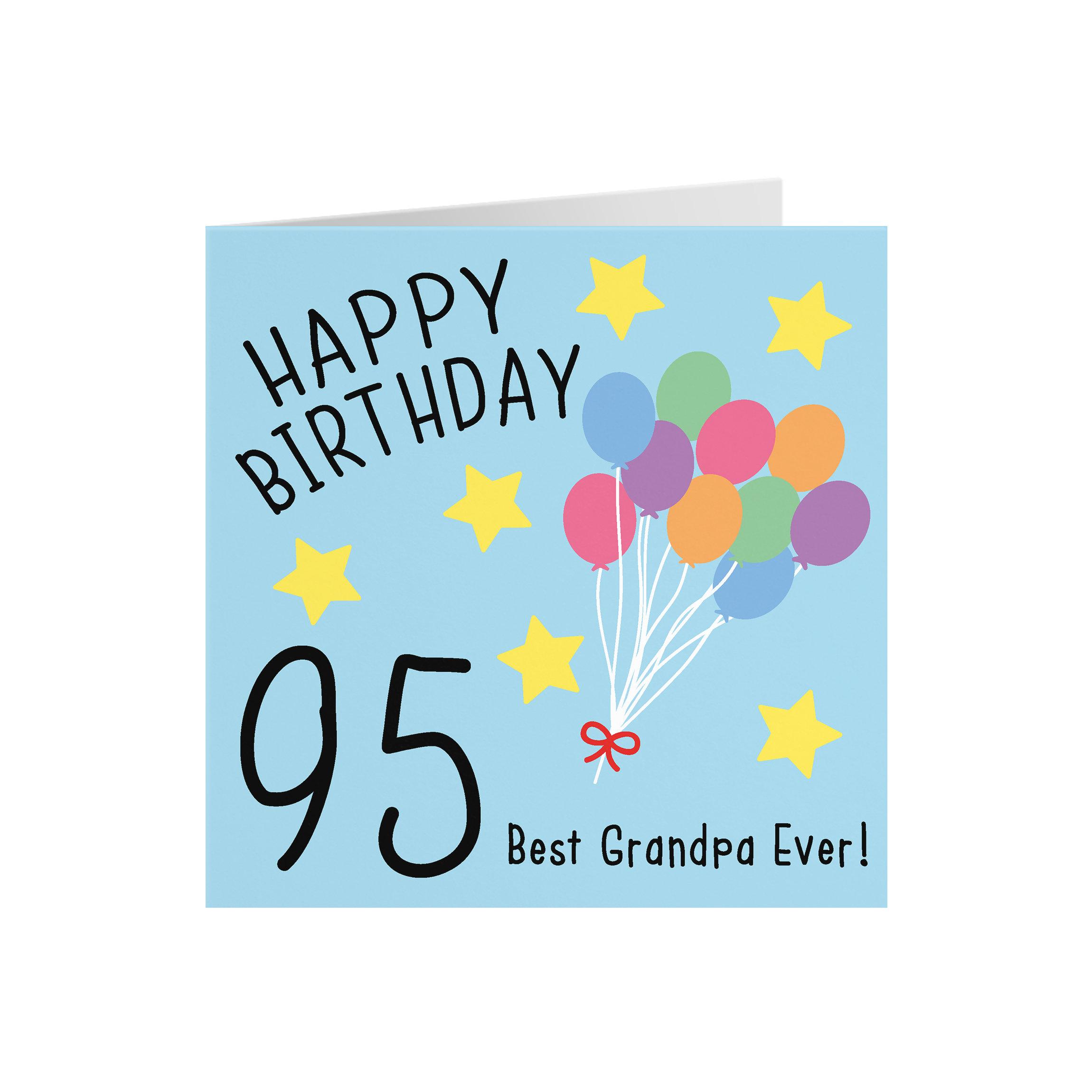 Grandpa 95th Birthday Card Happy Birthday 95 Best Grandpa Etsy