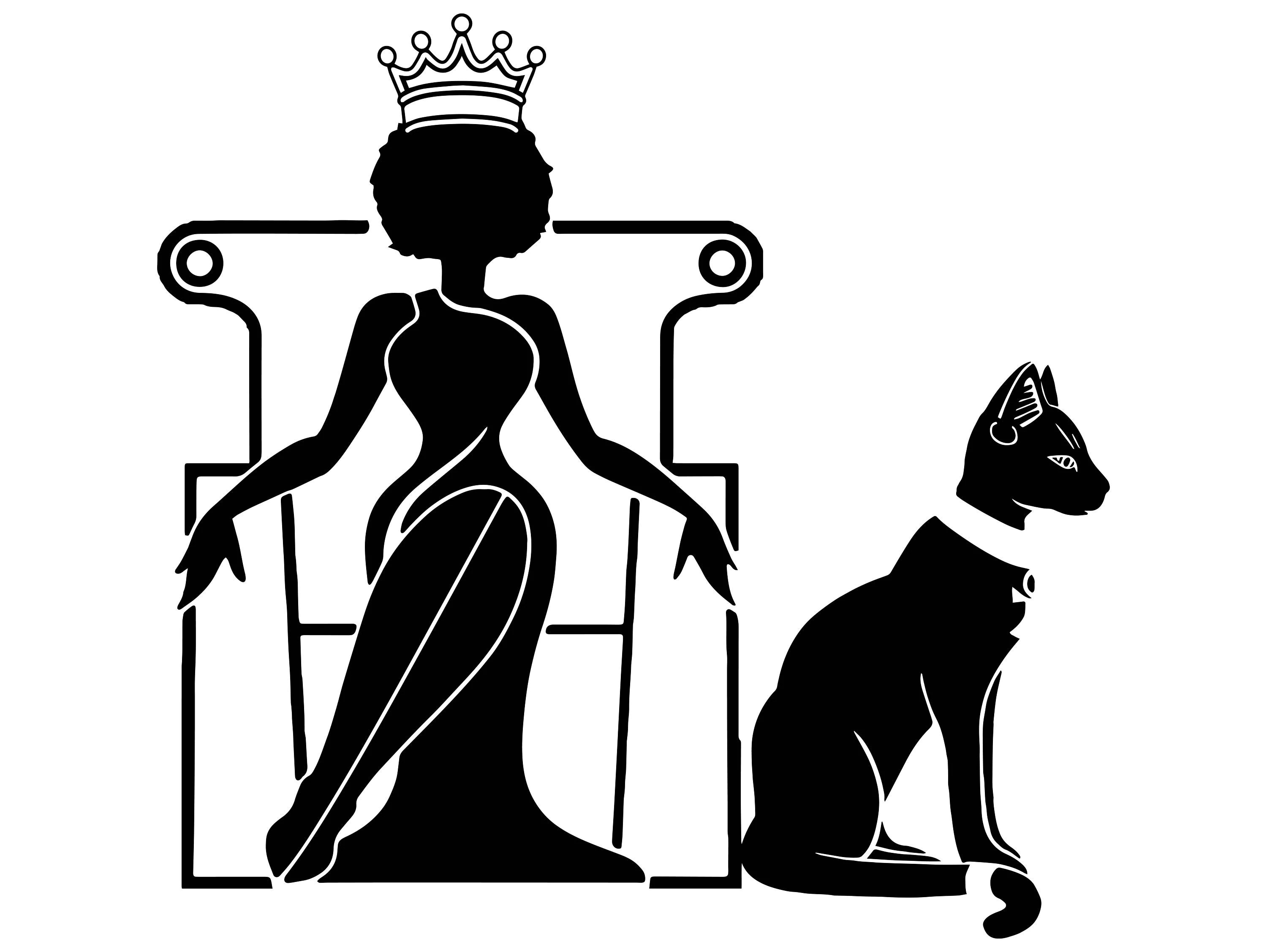 Afro Woman Svg Princess Queen Black Cat Crown Afro Hair