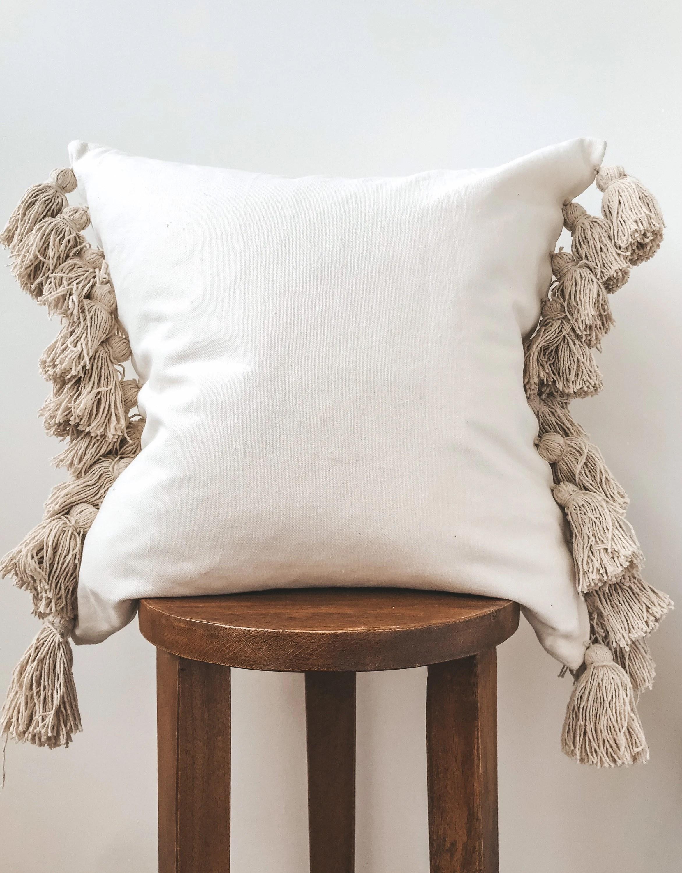 tassel pillow etsy