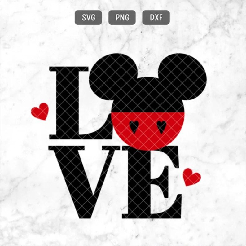 Download Mickey SVG Love Mickey Svg Valentine Mickey Svg | Etsy