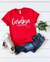 Bella Canvas 3001 Red Unisex T Shirt Flat Lay Flat Lay Etsy