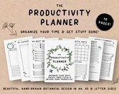 Printable Productivity Planner • Daily Weekly Monthly Organizer • Schedule Planner • To-Do List • Task Planner • A4 • A5 • US Letter