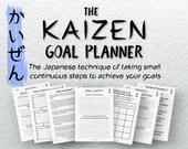 The Printable Kaizen Goal Planner • Goal Setting • Japanese Planner • Positive Habits • Achievement Planner • Achieving Goals