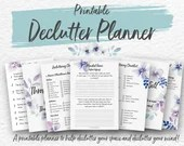 Printable Declutter Planner, Tidying, Home Clearance, Spring Cleaning, Home Organizing, KonMari