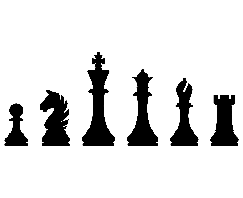 Schachfiguren Schach Silhouette Svg Grafik Illustration