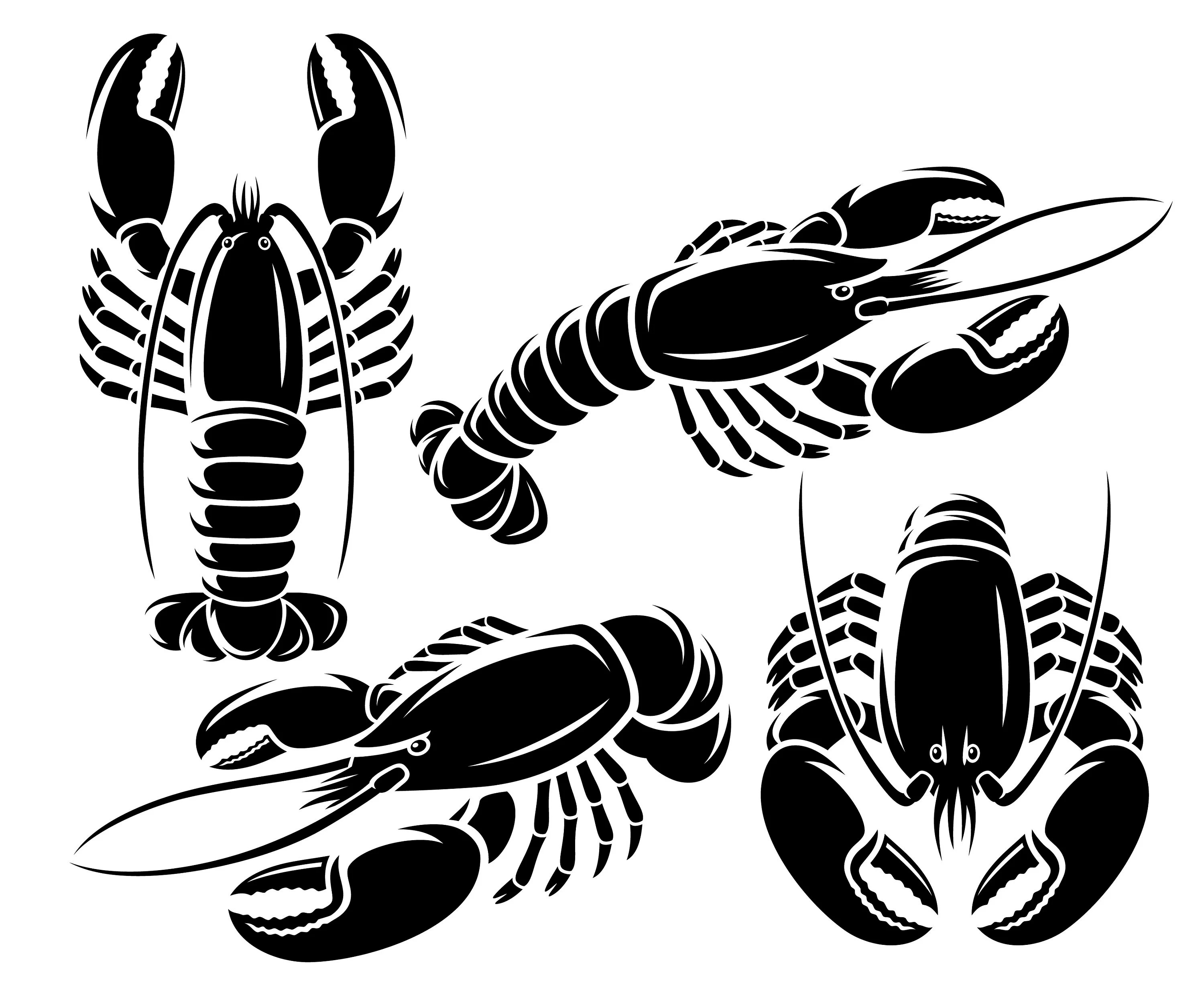Crayfish Svg Crawfish Svg Crawfish Clipart Silhouette Svg
