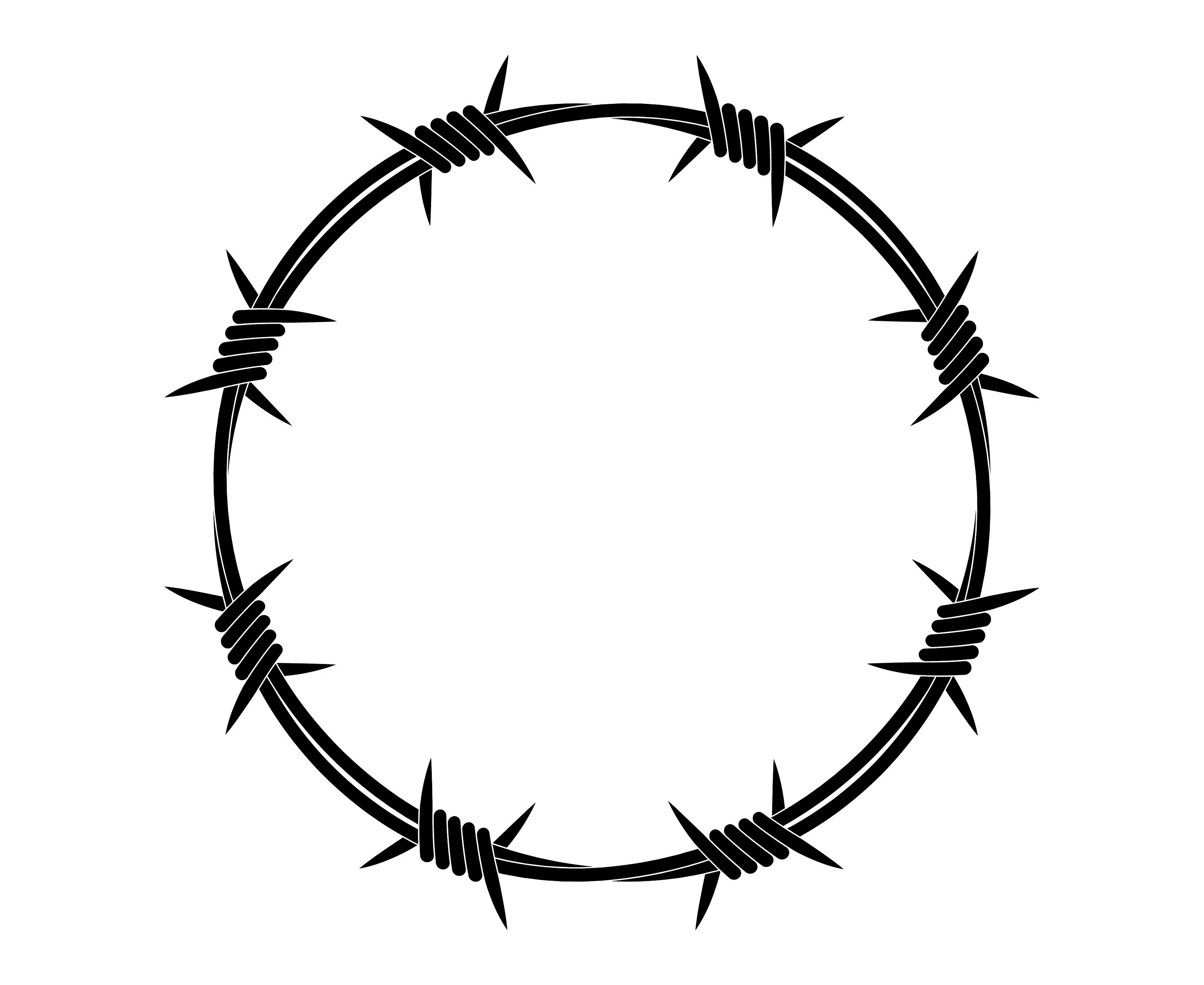 Barbed Wire Wire Barbed Circle Barb Barbwire