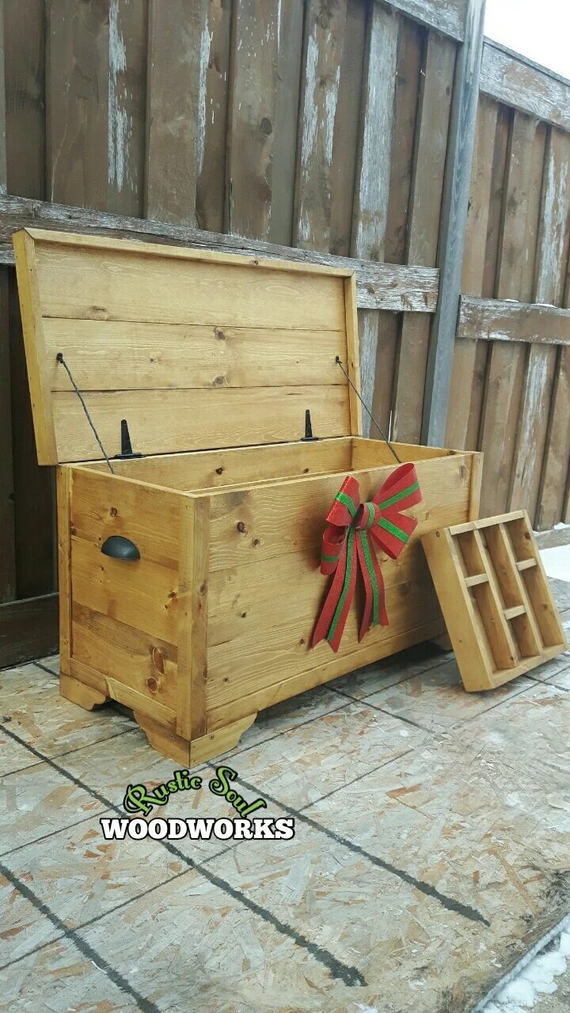 farmhouse toy box boys rustic storage trunk for mudroom yellow entryway bench 34 x15 x20