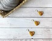 Sun burst stitch marker for crochet & knitting