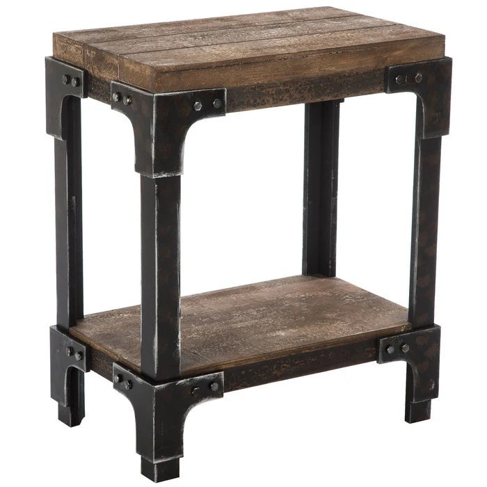 rustic accent table etsy