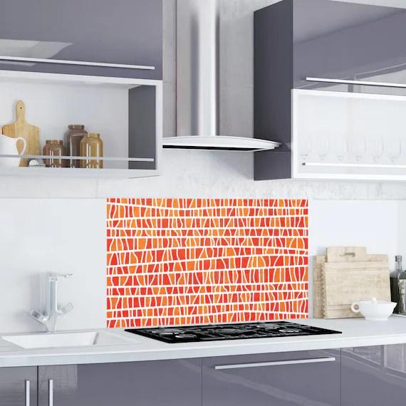 burnt orange branches kitchen bathroom backsplash sticker easy clean removable kitchen carrelage splashback wall protector