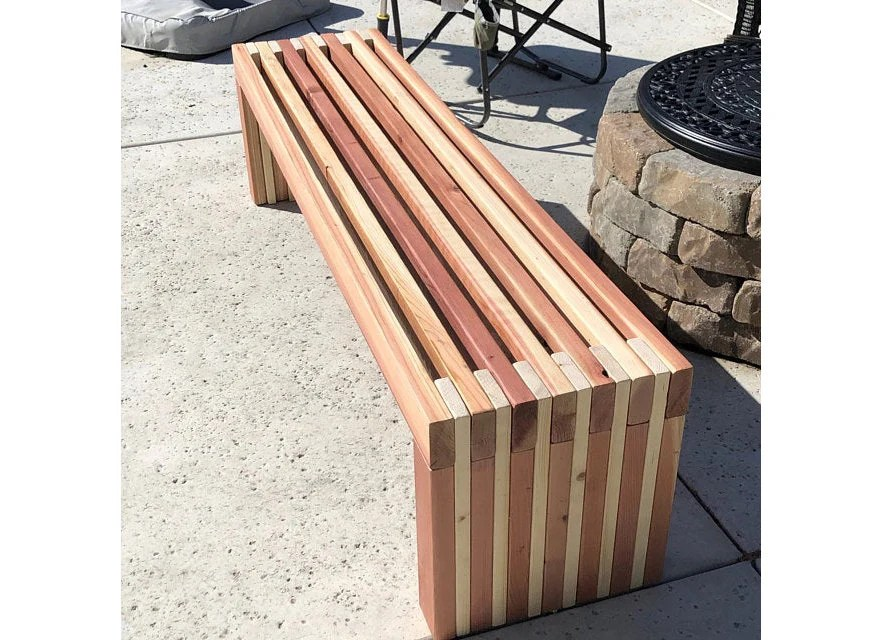 simple bench plans outdoor furniture diy 2x4 lumber patio etsy