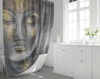 buddha bath curtains buddha statue