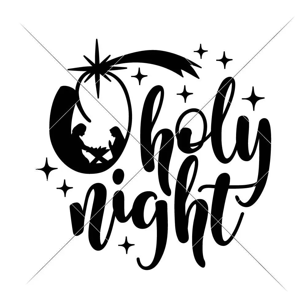 Download O holy night nativity scene Christmas SVG dxf Files for | Etsy
