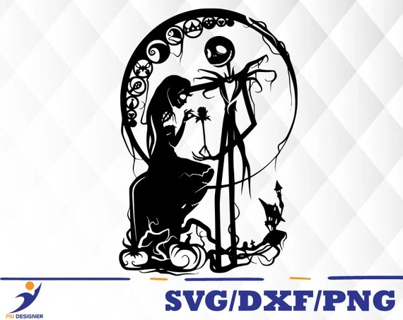Download Nightmare Before Christmas svgdxfpng/ jack and sally ...