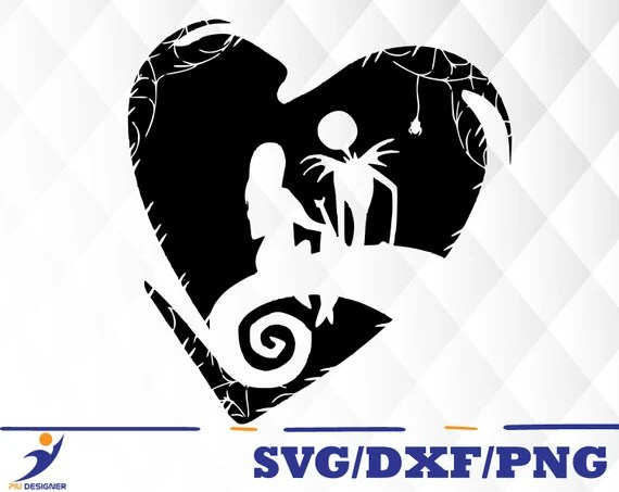Download Nightmare Before Christmas svgdxfpng/ jack and sally love ...