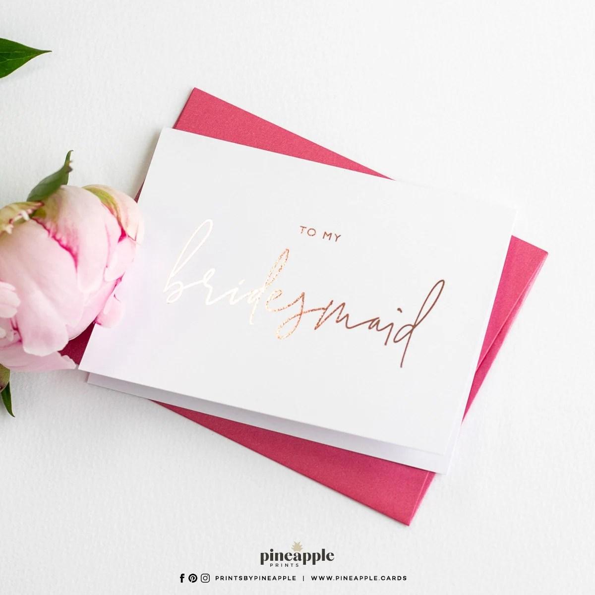 To My Bridesmaid Cards  My Bridesmaid Card  Ask Bridesmaid  image 1