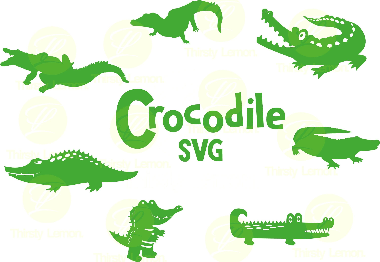 Crocodile Svg Bundle Alligator Svg Alligator Clipart Cut