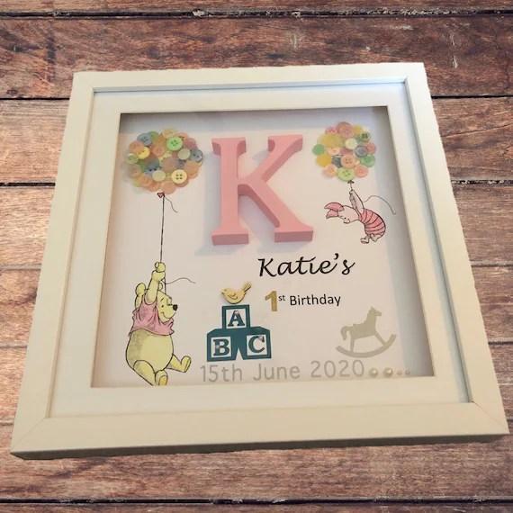 Personalised 1st Birthday Box Frame First Birthday Gift Etsy