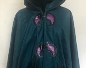 Teal Stained Glass Single Layer Cape