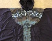 Chocolate/Brown Print Small Open Front Cape