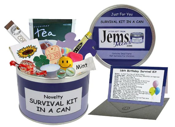21st Birthday Survival Kit In A Can Fun Happy Birthday Gift Etsy