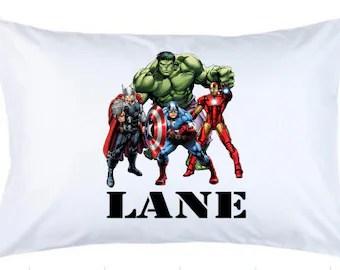 superhero pillowcase etsy